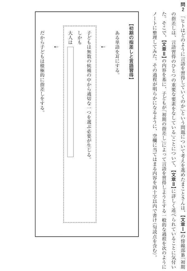 共通テスト平成30試行国語1