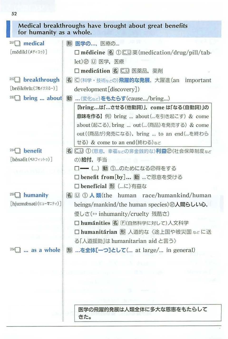 英単語帳のスクリーンショット