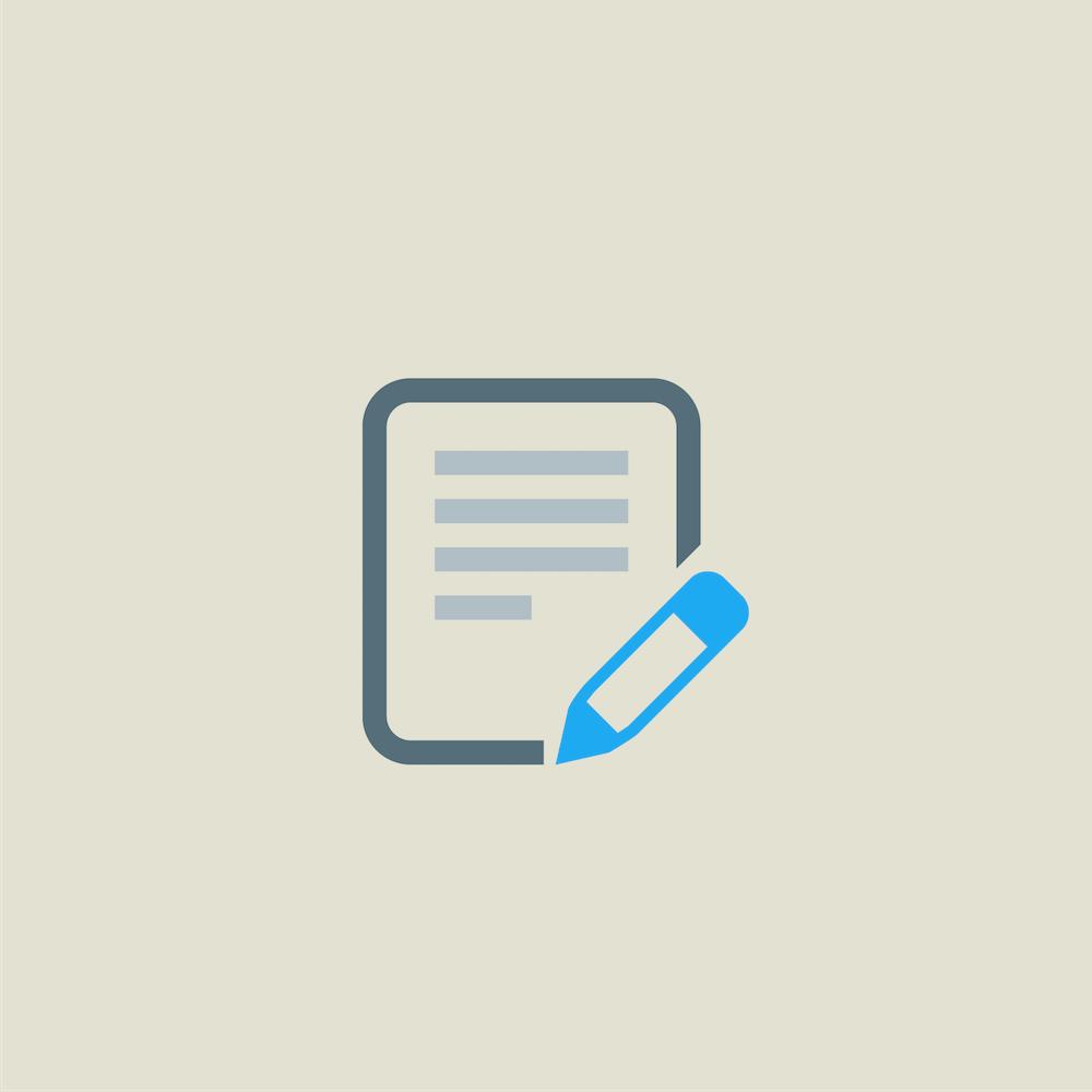レポート用紙とペン